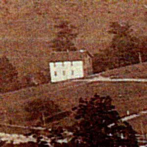 The first school building in Heilwood, circa 1905.