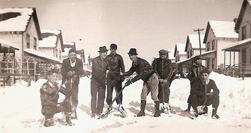 Snow removal on 3rd Street (circa 1944)