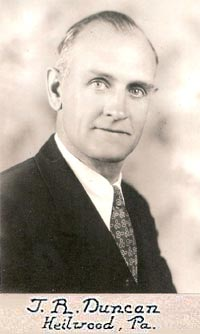 J.R. Duncan, Heilwood Company Store Manager (1917-1933)