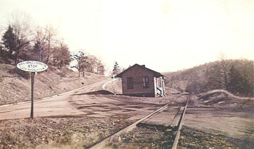 Heilwood Railroad Station, circa 1942