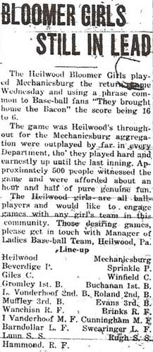 Article from the August 16, 1920 Indiana Gazette.