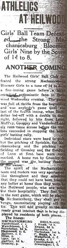 Article from the July 30, 1920 Indiana Gazette.