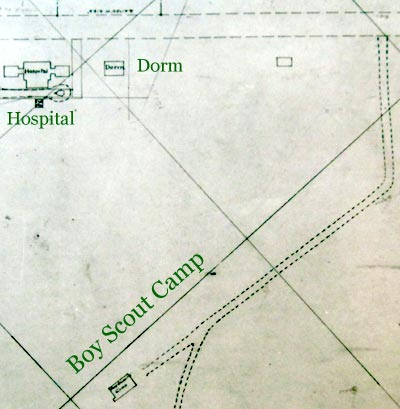 Heilwood Map (circa 1919) showing location of a Boy Scout Camp.