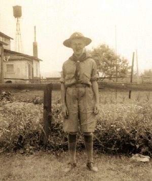 Heilwood Boy Scout Ray Lockard (circa 1943)