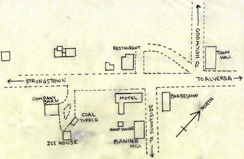 Map showing location of the Ice House, circa 1926.