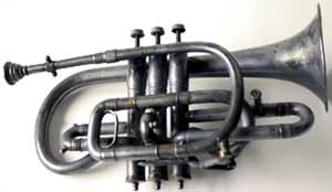 A Penn Mary Band cornet, manufactured by the Distin Company of Williamsport, Pa. (circa 1903-09).