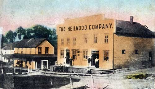 View of the original company store (circa 1908)