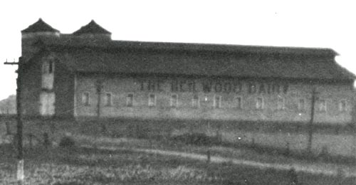 Side view of the Heilwood Dairy