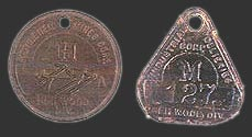 Other Heilwood Mine Worker Identification Tags (Left - Bethlehem Mines, Right - Industrial Collieries)