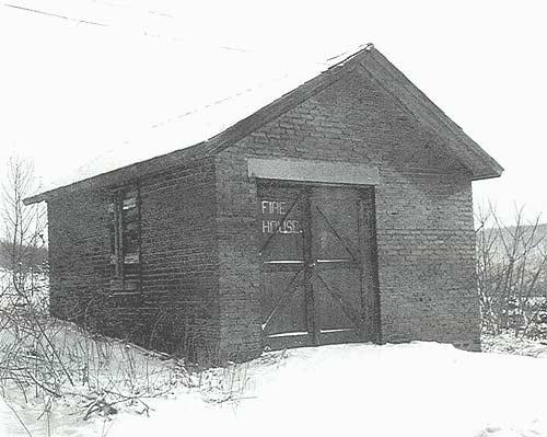 Fire cart storage building, circa 1963