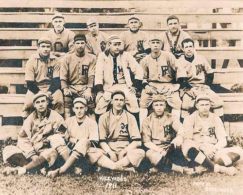 Heilwood's Trolley League baseball team, circa 1911