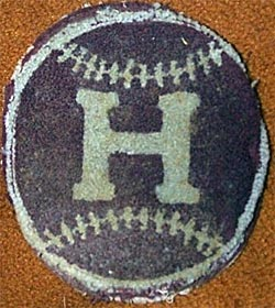 Patch clipped from a Heilwood Coal Company baseball jacket, circa 1947.