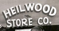 Sign for the Heilwood Store Company (1951)