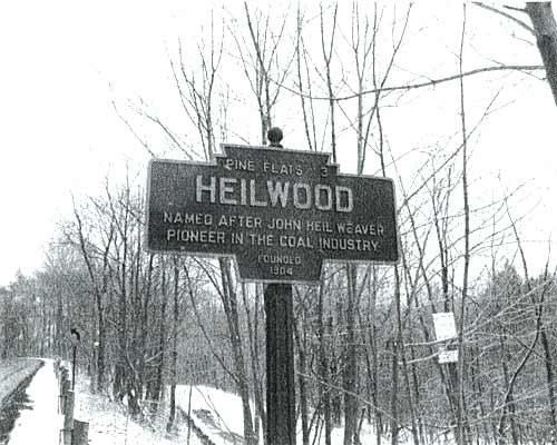 Heilwood historical marker