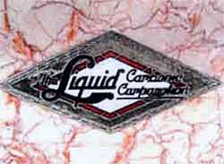Logo of the Liquid Carbonic Company of Chicago, makers of the soda fountain.