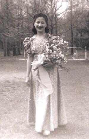 1944 May Queen Attendant Toni Arello