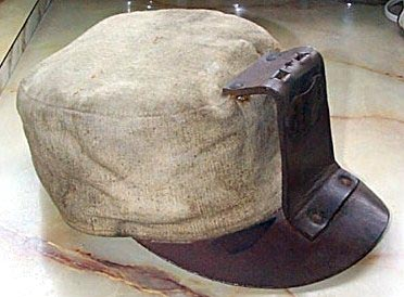 A miner's soft cap, used in the days before hardhats.