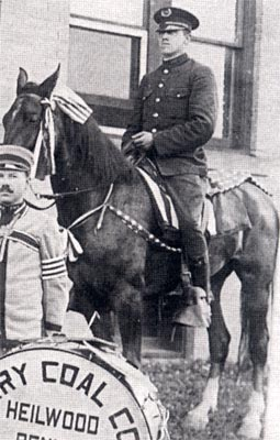 Heilwood police officer on horseback (ca. 1918)