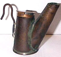 An oil lamp used in the Heilwood coal mines