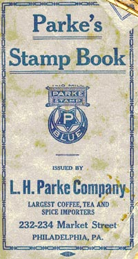 Cover of a Parke's Stamp Book