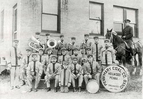 The Penn Mary Coal Company Band, organized in January 1918