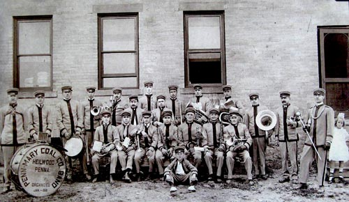 Another photo of the Penn Mary Coal Company Band, date unknown.