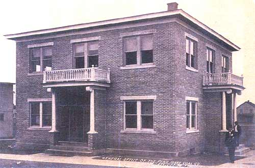 General Office of the Penn Mary Coal Company, circa 1912.