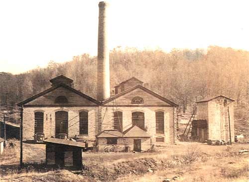 The Heilwood coal mine power house & machine shop, circa 1940