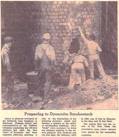 Preparing to Dynamite Smokestack
