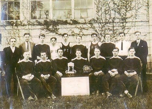 Pine Township High School - 1933 Indiana County Class B Basketball Champs