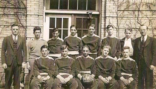 Pine Township High School - 1935/36 basketball team