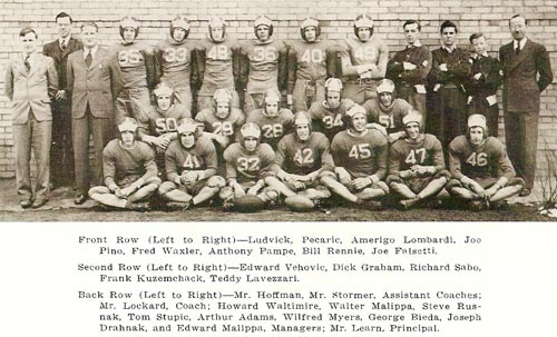 Pine Township High School - 1941/42 football team