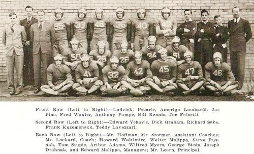 Pine Township High School - 1941/42 football team