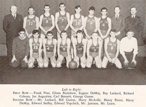 Pine Township High School - 1946 Basketball Champs
