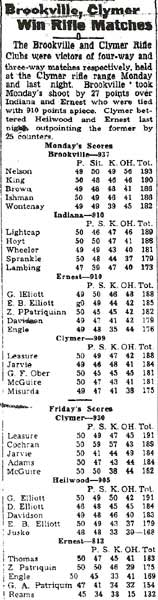 This clipping (from March 1941) is the last to mention an independent Heilwood team.