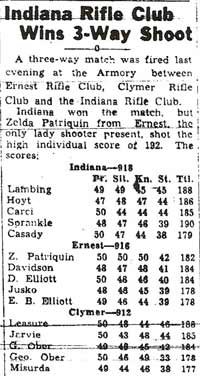 This clipping (from April 1941) shows various members of the Heilwood club now shooting for other teams.