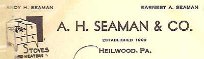 A. H. Seaman & Co. letterhead, a North Heilwood business