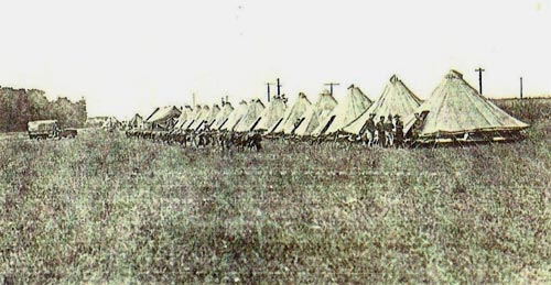 National Guard encampment in Heilwood during the 1922 coal strike.