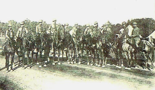 National Guard troops on horseback during the 1922 coal strike.