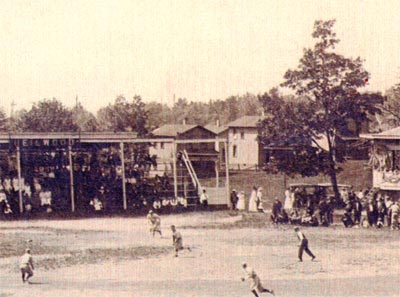"""The Green"" (in background, circa 1920)"