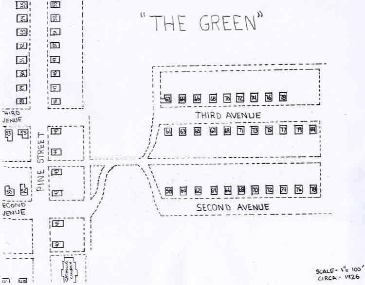 Map of The Green area (circa 1926) - click to enlarge