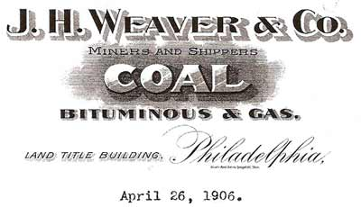 J.H. Weaver & Company letterhead