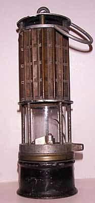 Wolf safety lamp used in the Bethlehem Mine #11, circa 1929.
