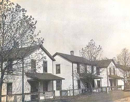 Mine Workers' Homes on 2nd Street, circa 1940