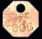 "Miner Worker Identification Tag from ""P.G.C."" (Possum Glory Coal)"