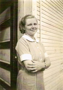 Industrial Colleries Store employee Ann Stupic in store uniform, circa 1936