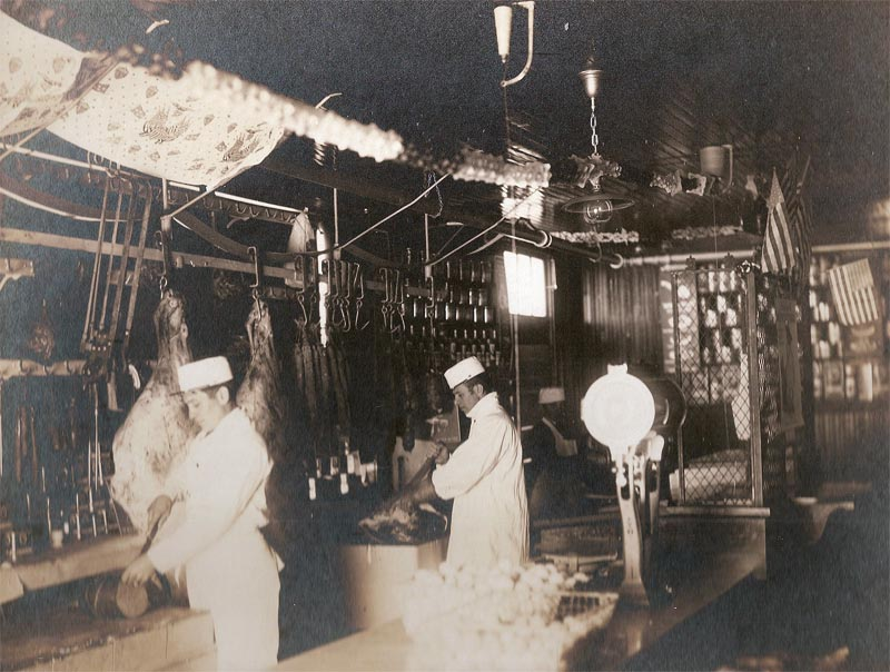 Another view inside the Company Store butcher shop.