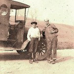 Alex Jusko & the Company Store delivery truck, circa 1922