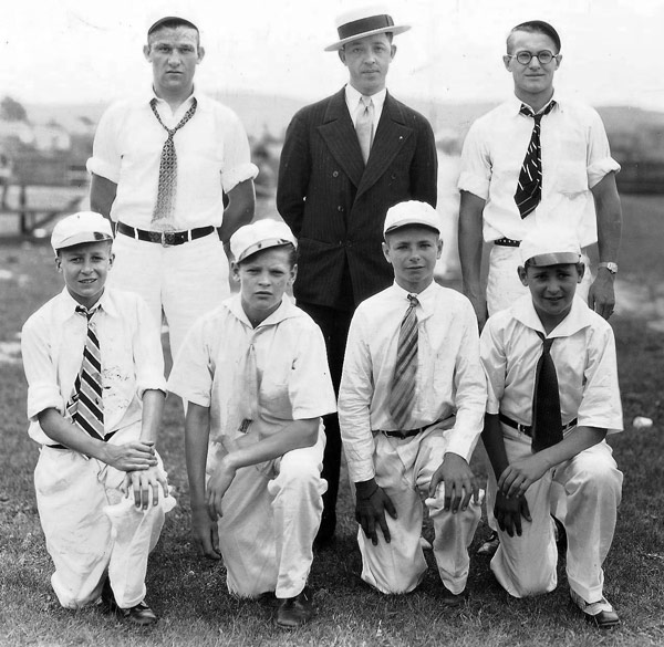 Winning boy's team from the Heilwood First Aid Meet held on June 5, 1930.