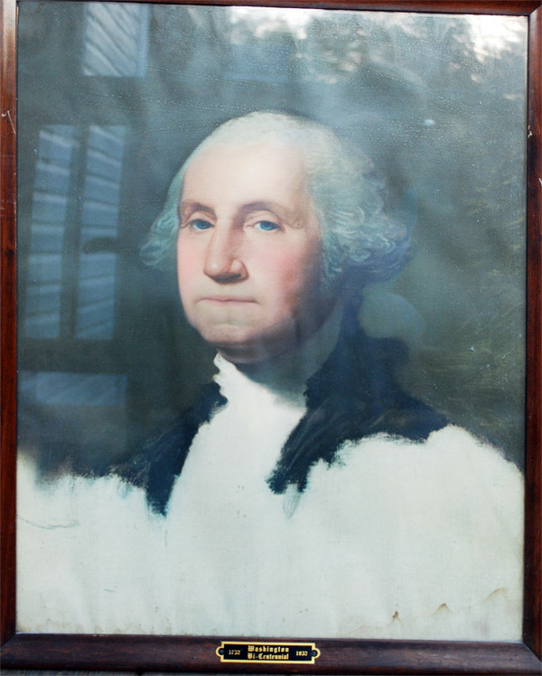 Portrait of George Washington that hung in a Heilwood school classroom, circa 1931.
